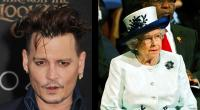 Johnny Depp y la reina Isabel II