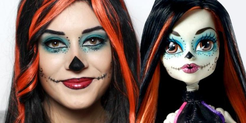 Tutorial de maquillaje sobre Skelita Calaveras de Monster high