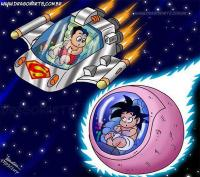 9. Goku junto a Superman...