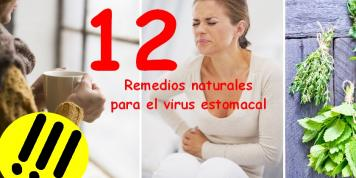 12 remedios naturales para el virus estomacal