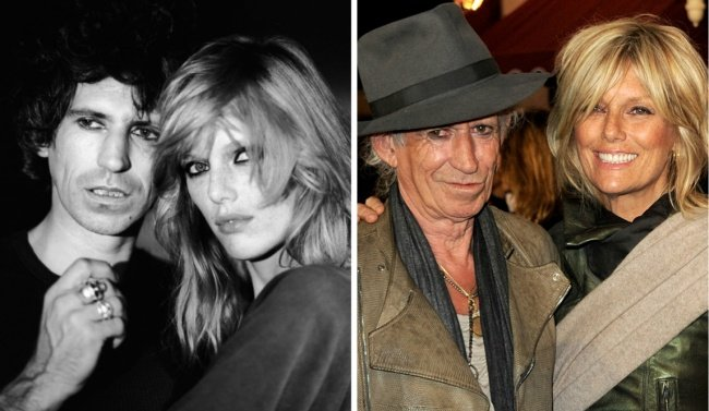 Keith Richards y Patti Hansen 1