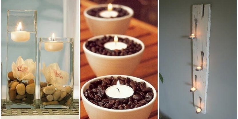 10 ideas para decorar tu hogar con velas tea light